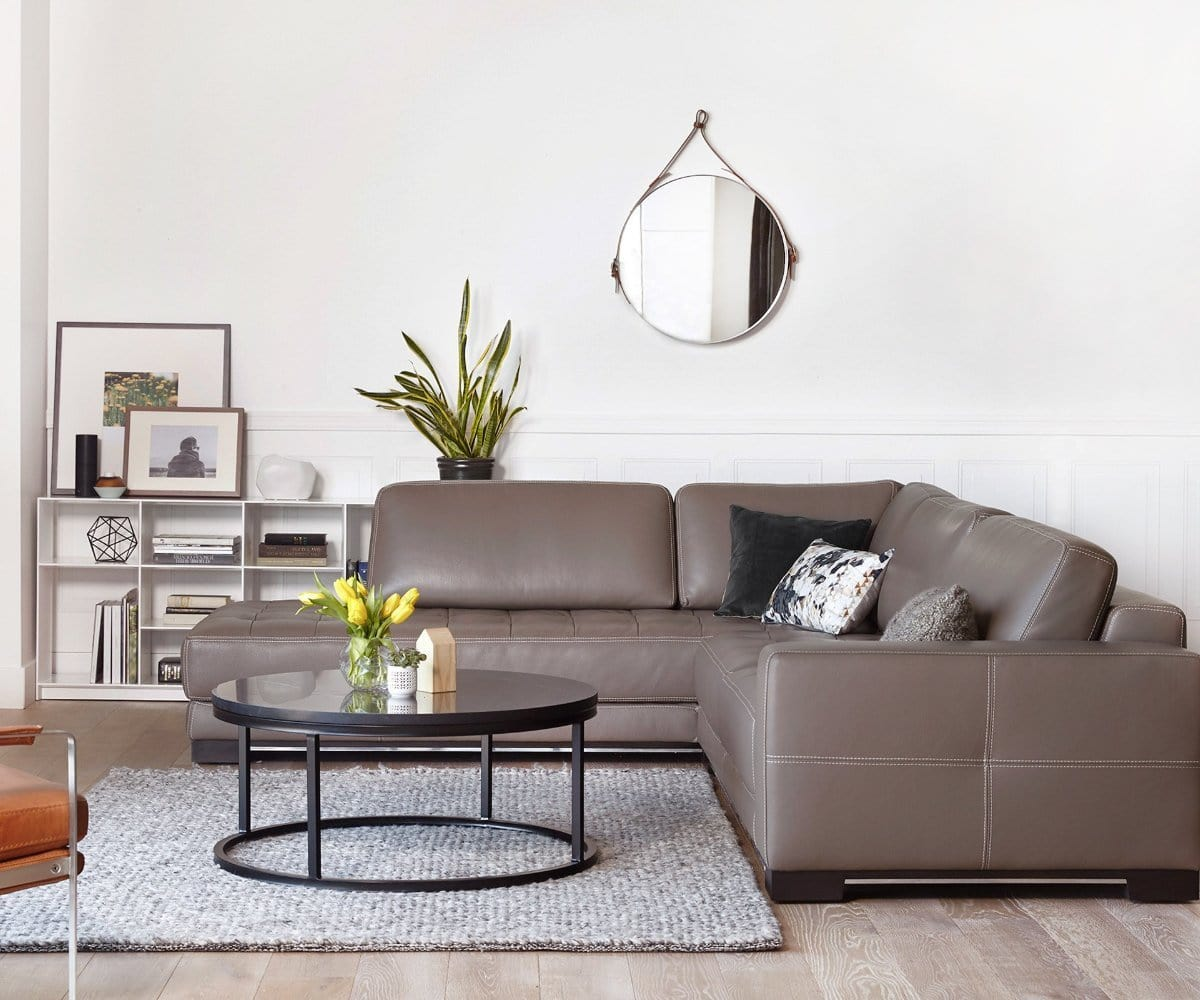 Andreas Leather Left Sectional – Dania Furniture