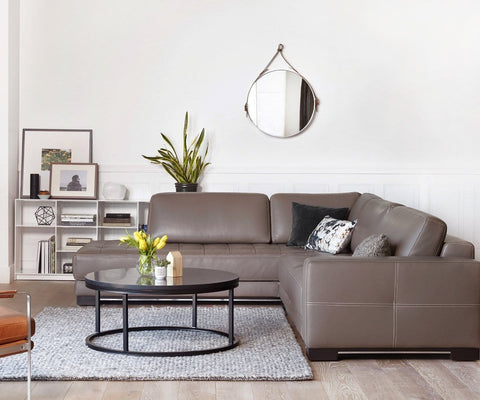 Contemporary Scandinavian chaise sectional living room