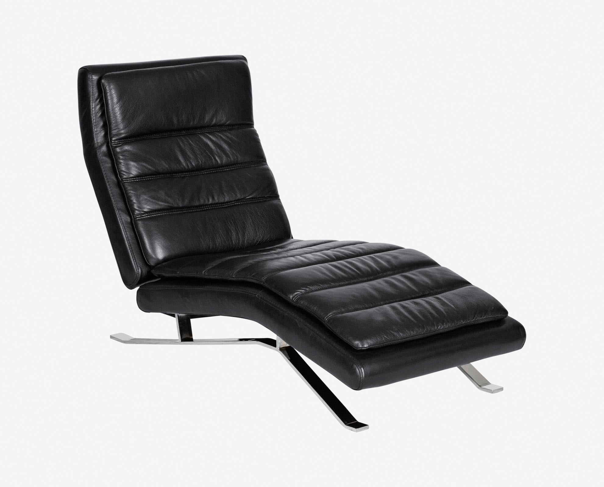 Nagalis Leather Chaise Black : armless chaise - Sectionals, Sofas & Couches
