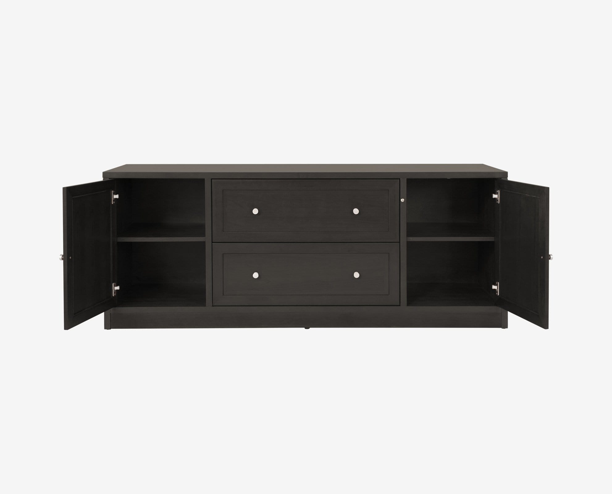 Quality crafted dark venge wood credenza