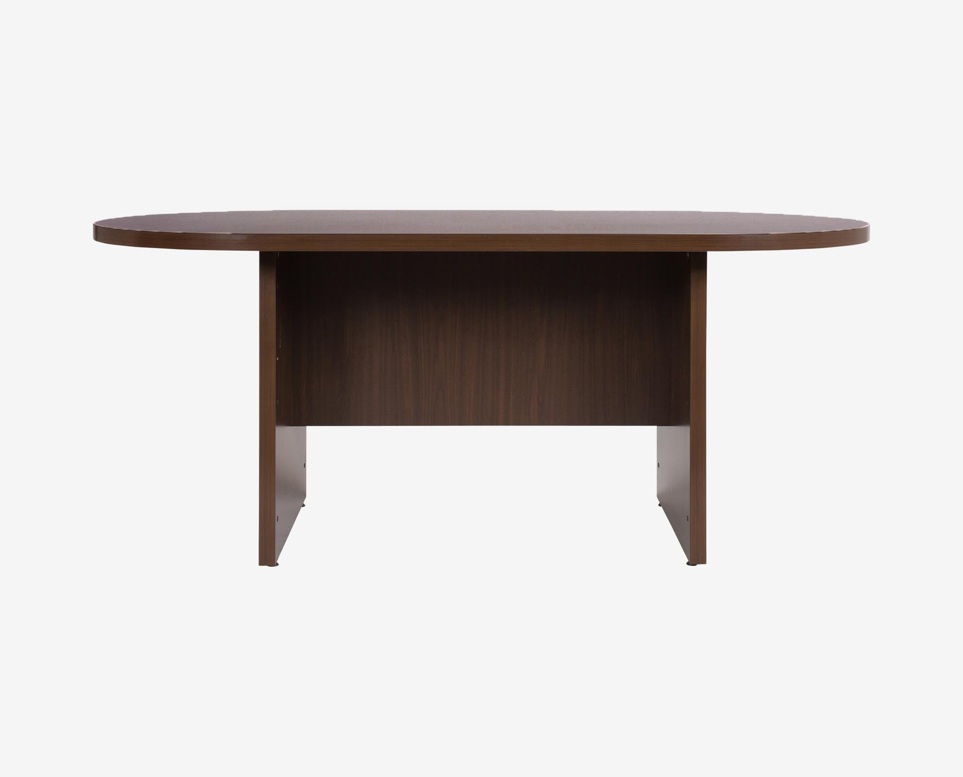 Modern minimalist oval conference table
