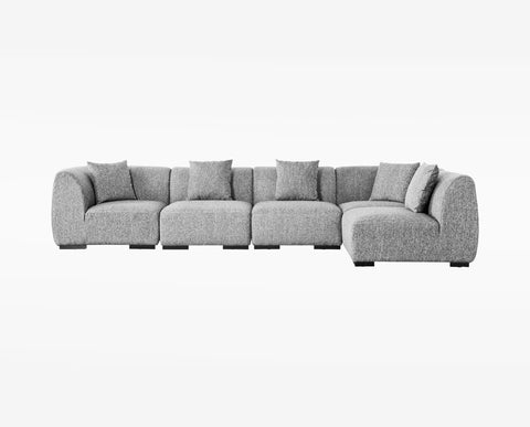 Renata Sectional Right Chaise Grey – DaniaFurniture