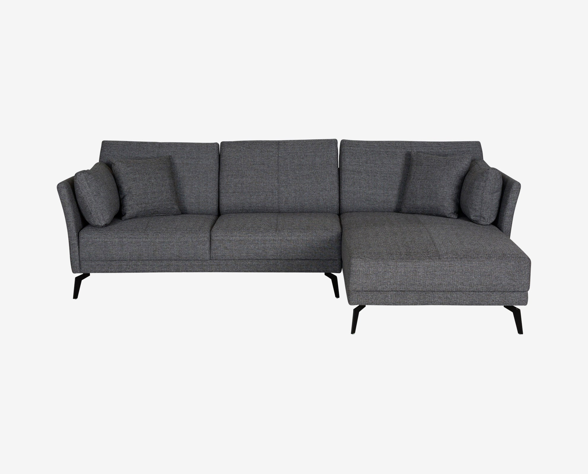 Renata Sectional Right Chaise Charcoal – DaniaFurniture
