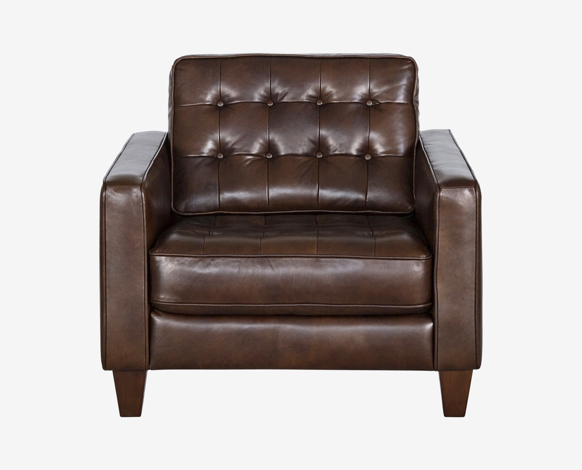 Contemporary design cushioned leather seating