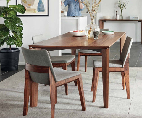 traditional minimalist wood dining room table design - Long Wood Dining Table