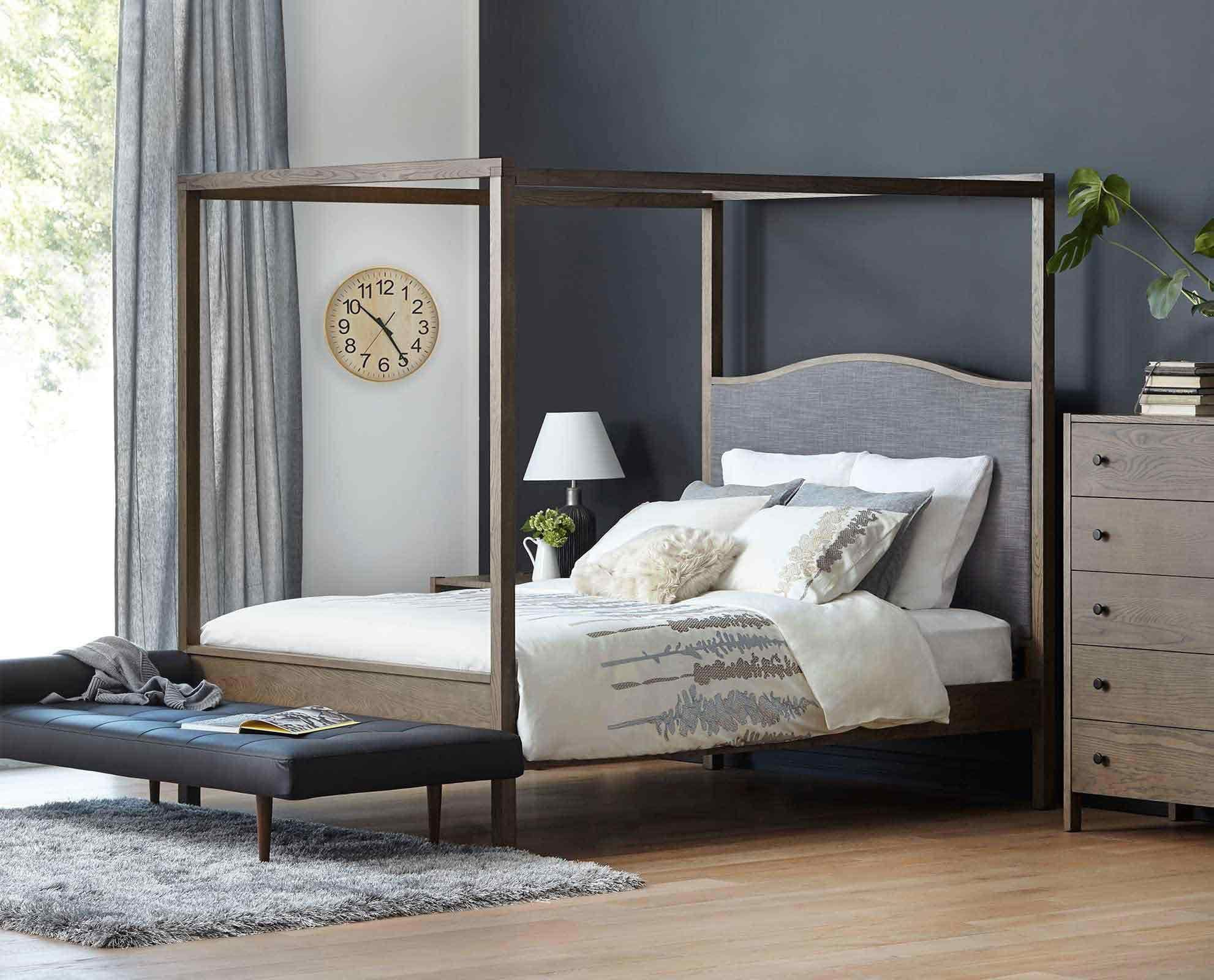 New Wood and Metal Canopy Bed