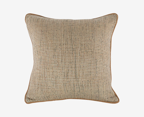 Neutral burlap canvas pillow