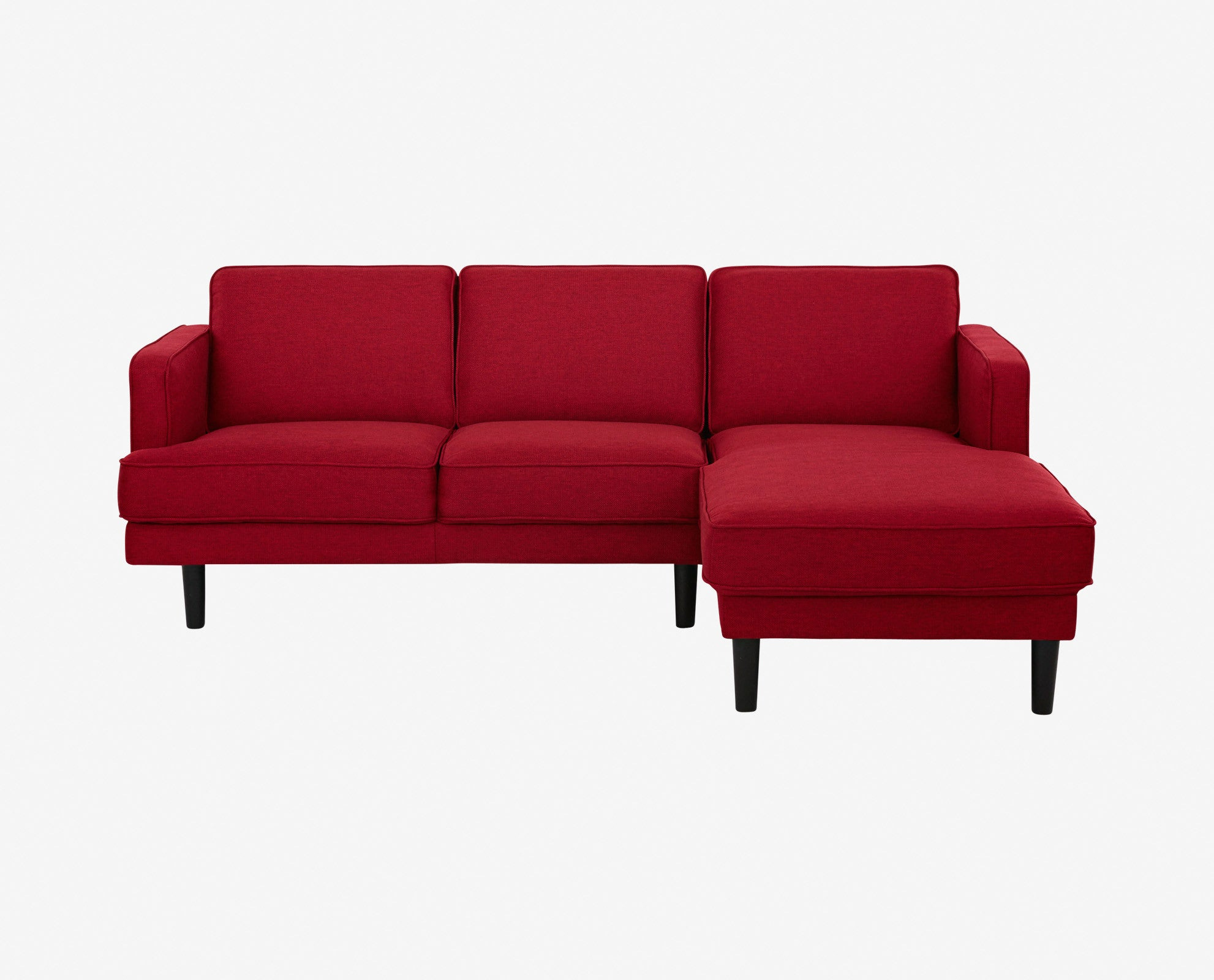 Red modern chaise sectional