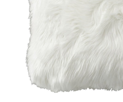 "Rorik 12"" x 18"" Faux Fur Pillow Cover - White"