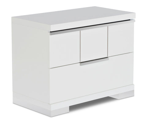 High gloss contemporary nightstand