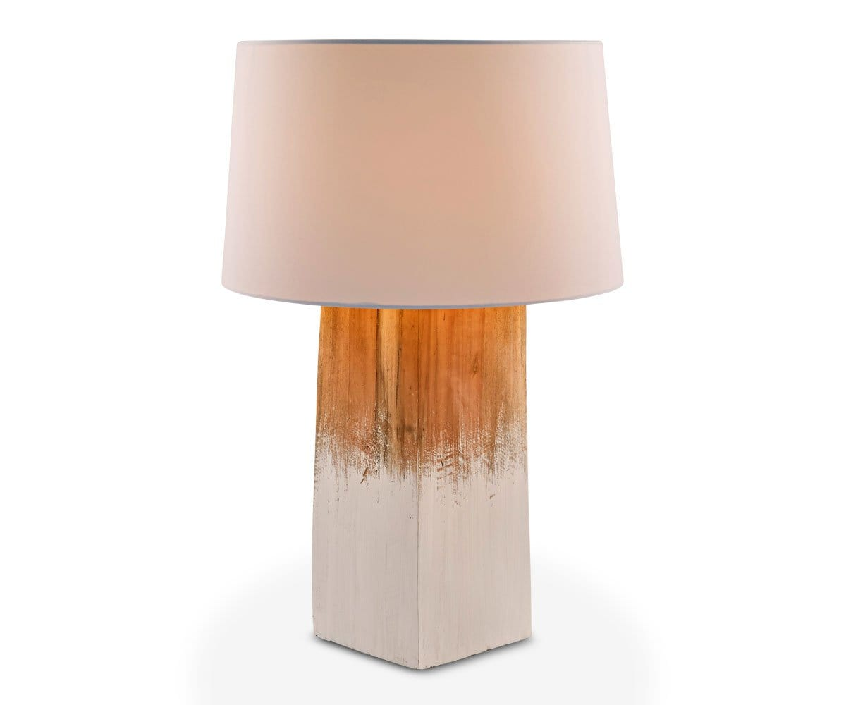 Elvar Trunk Table Lamp - White