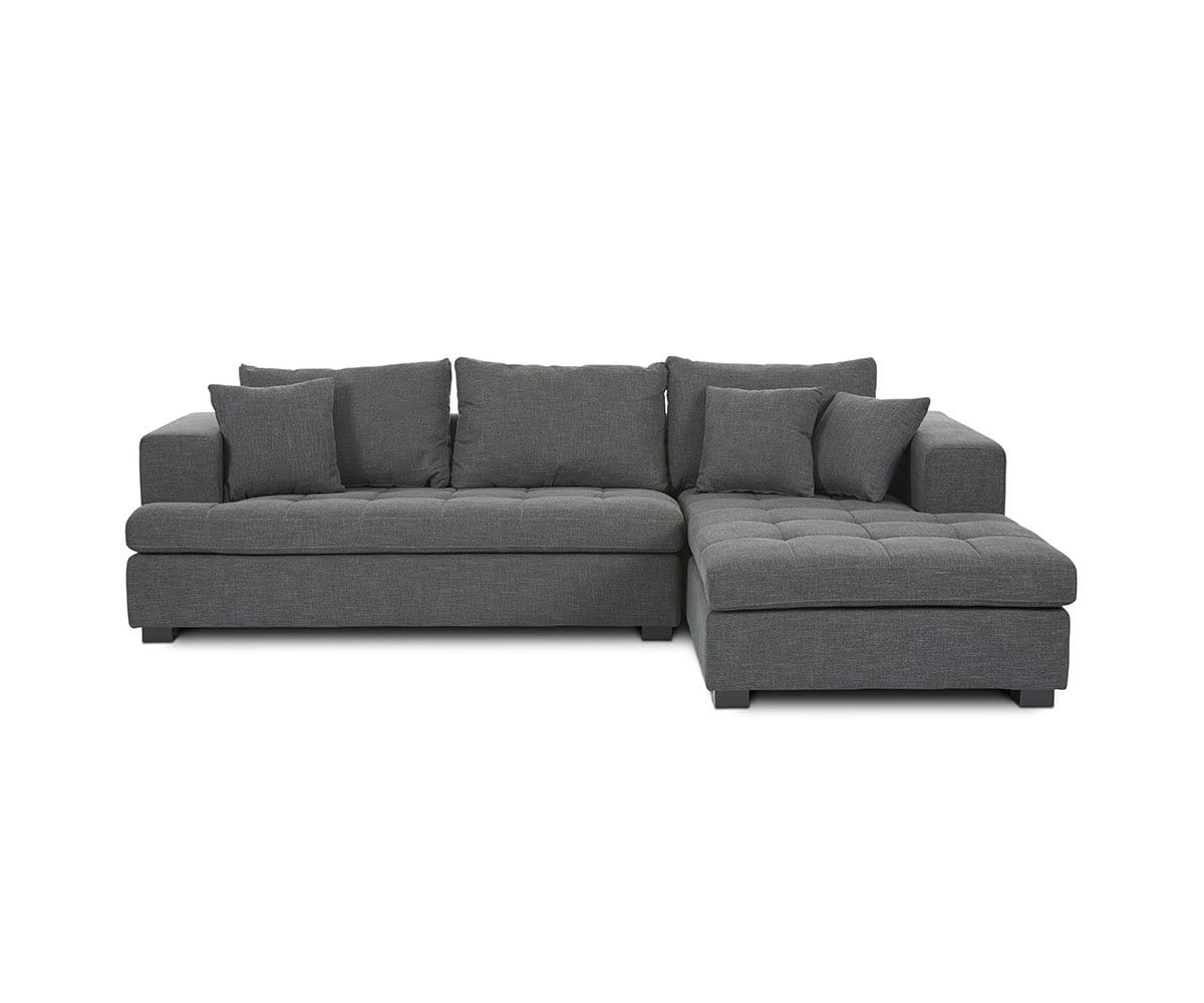 Fabulous Mirak Left Chaise Seated Sectional Dania Furniture Gmtry Best Dining Table And Chair Ideas Images Gmtryco
