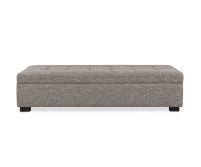 Mirak Storage Ottoman - Light Brown