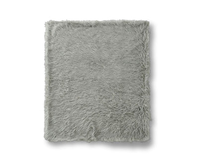 Boras Mongolian Faux Fur Throw - Grey