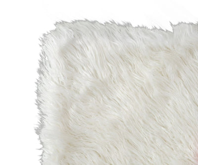 Boras Mongolian Faux Fur Throw - White