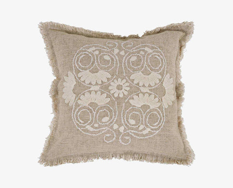 Modern chic floral pattern embroidery pillow