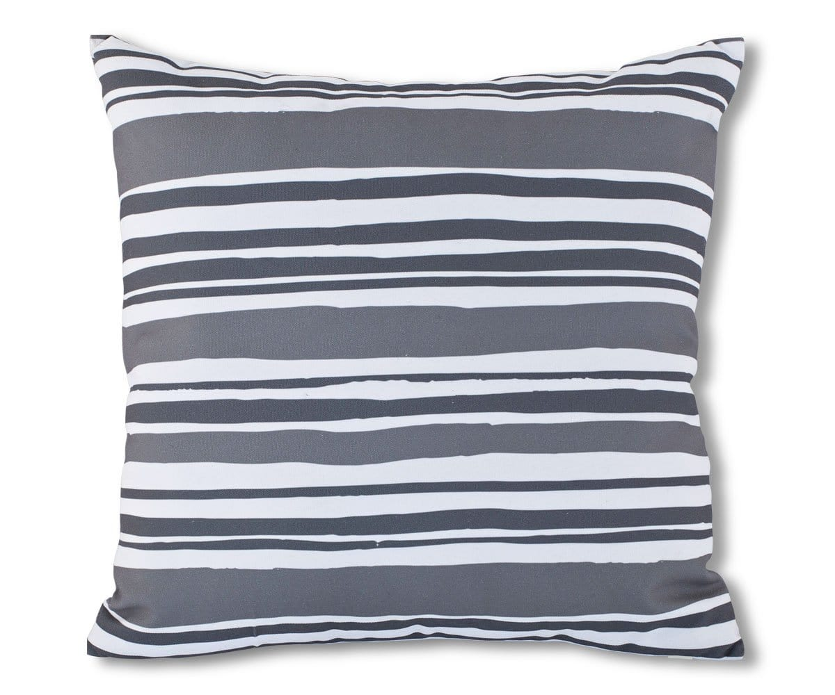 Serie Outdoor Pillow - Grey Stripes