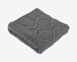 Palata Square Knit Throw - Grey