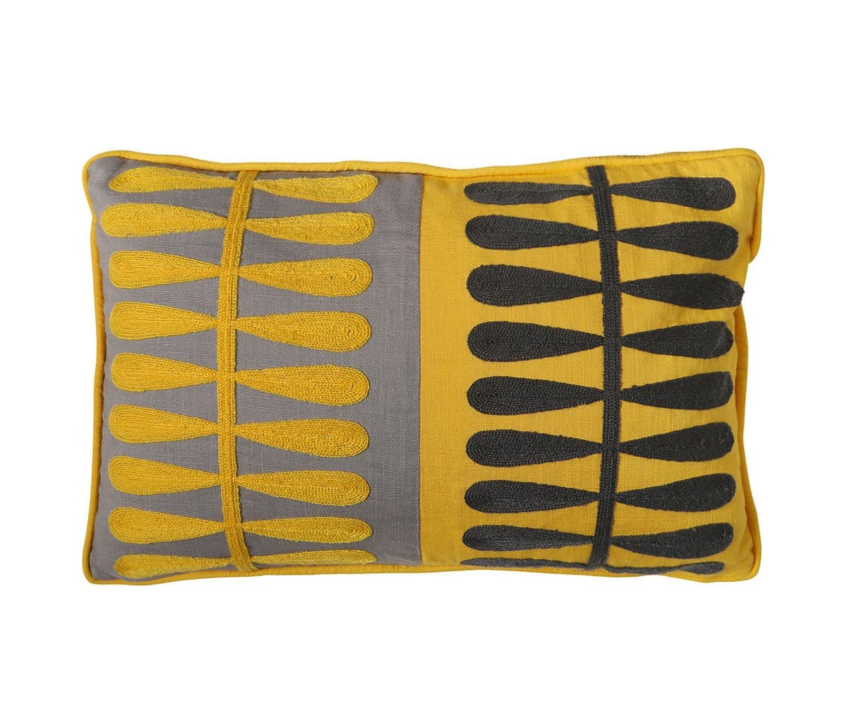 Auning Pillow Cover - Yellow
