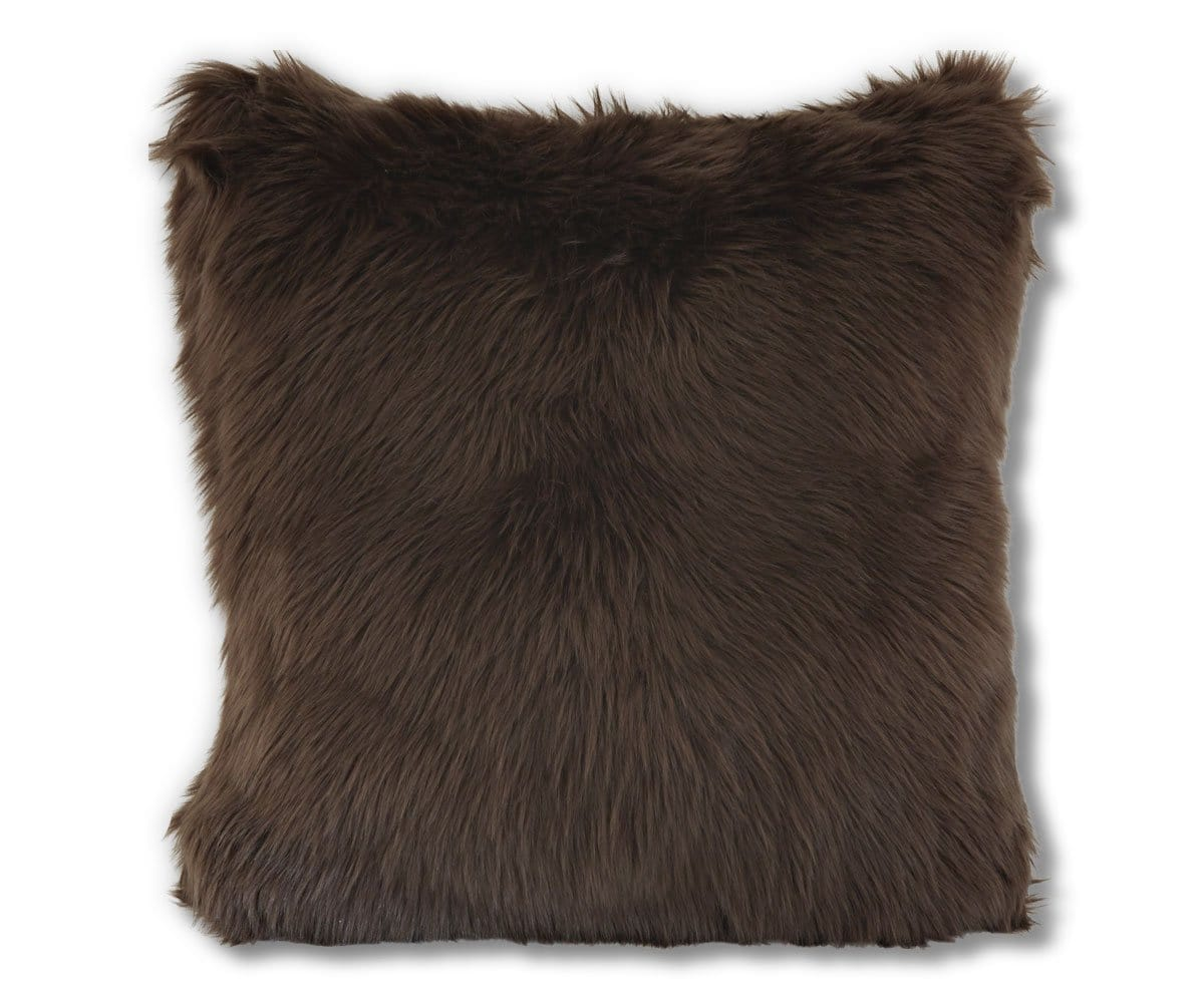 Rorik Faux Fur Pillow Cover - Brown