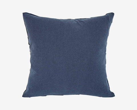 Sophisticated tufted blue modern pillow