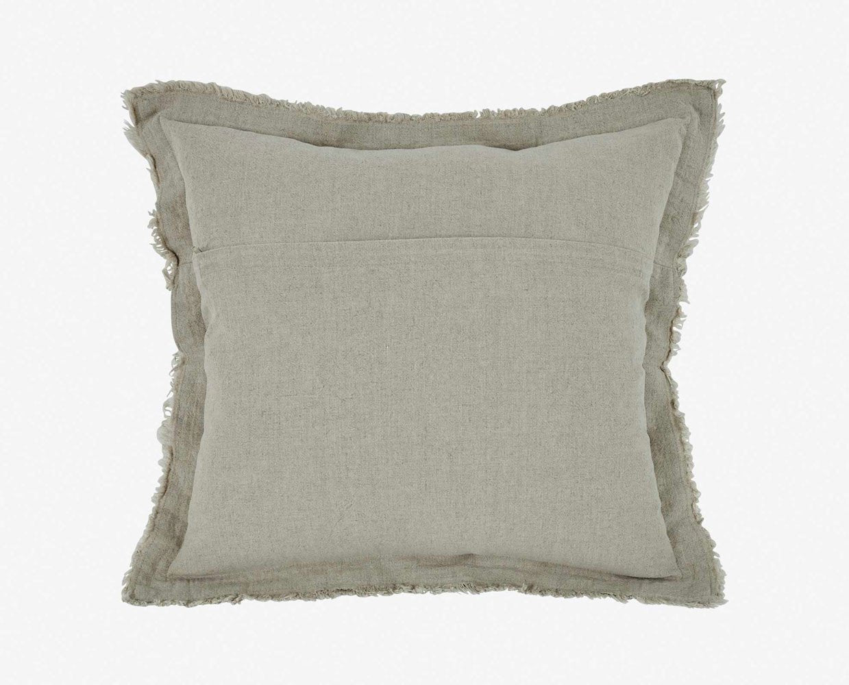 Beige modern classic textured pillow