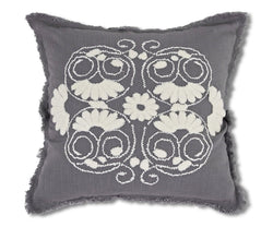Huldra Linen Pillow Cover - Grey