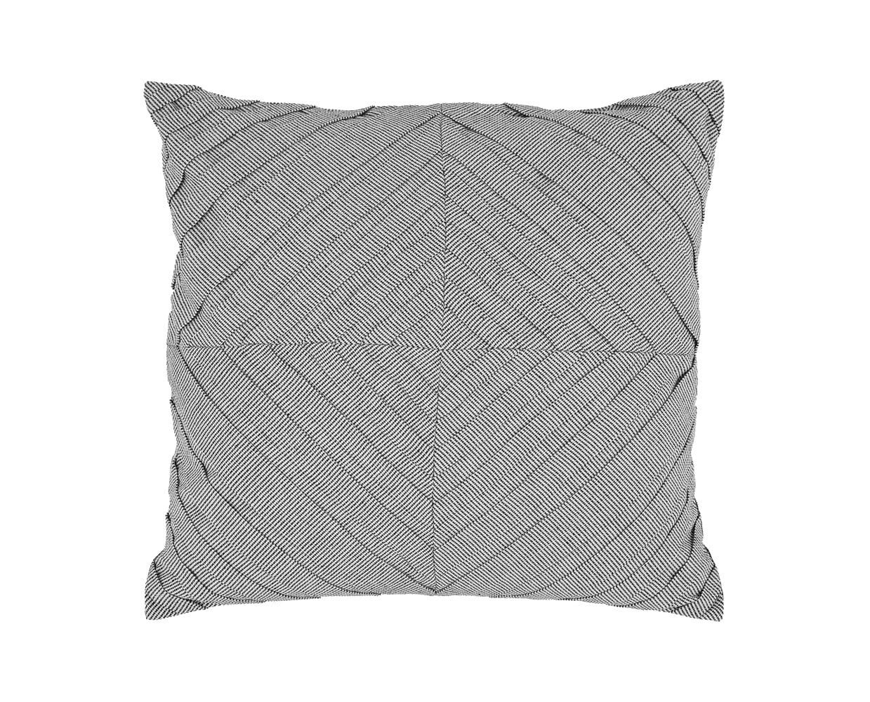 Umea Pintuck Pillow Cover - Grey