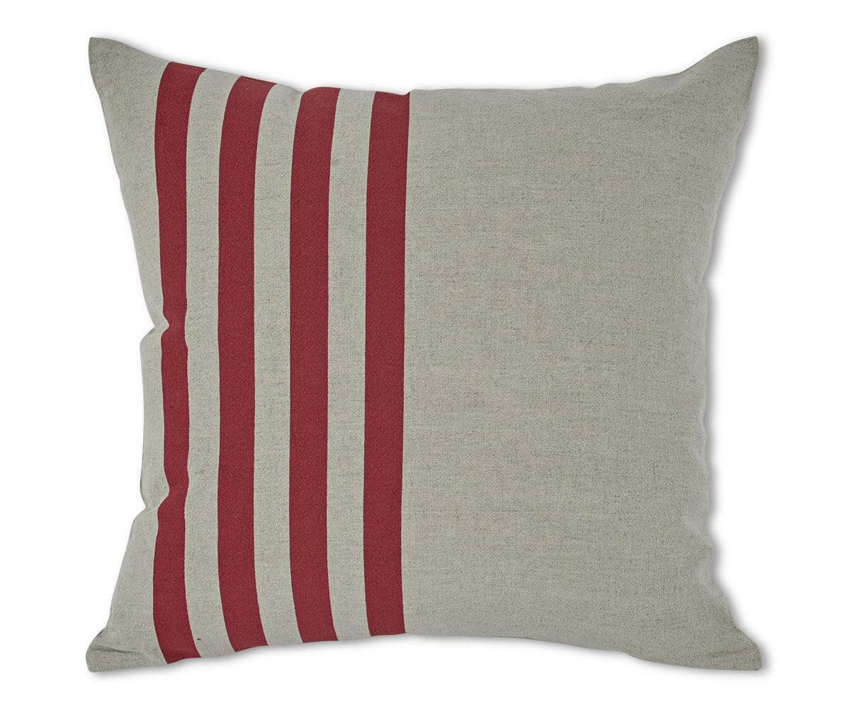 Rikitza Stripes Pillow Cover - Red