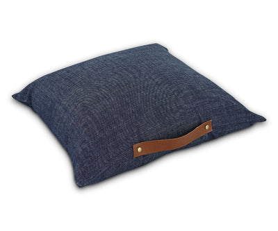 Rovald Denim Pillow Cover - Blue