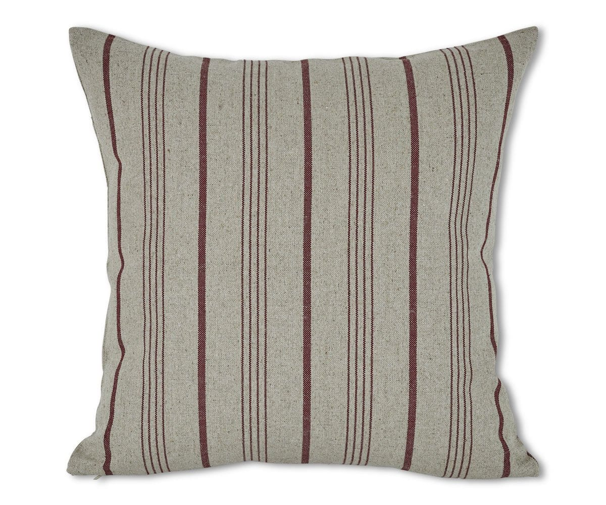 Detmar Stripes Pillow Cover - Red