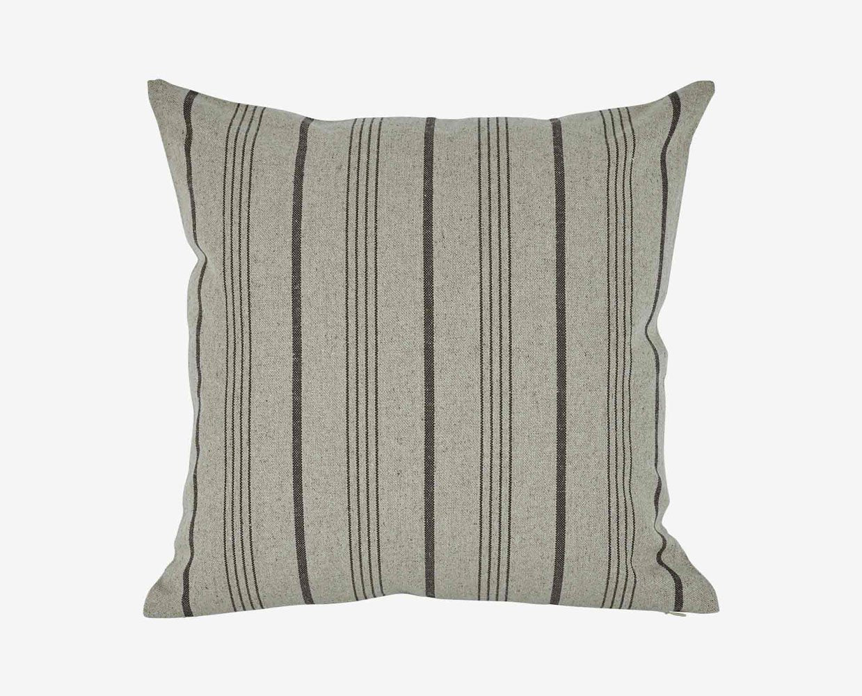 Grey pinstripe retro pillow