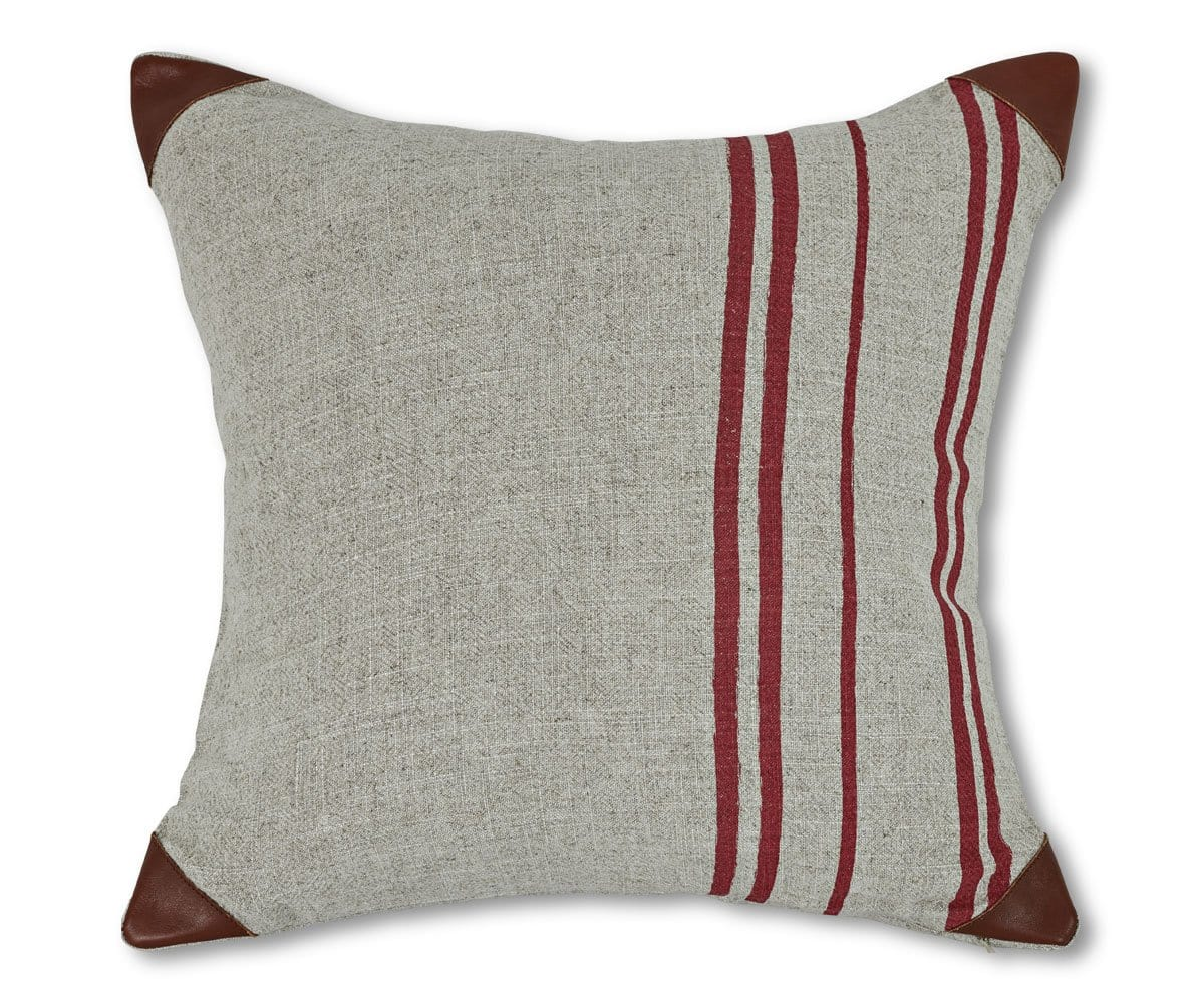 Folja Stripes Pillow Cover - Red