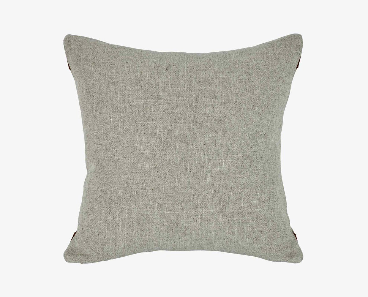 Leather tipped Scandinavian style pillow