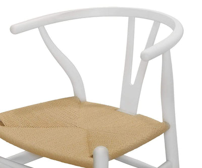 Filip Wishbone Dining Chair - White