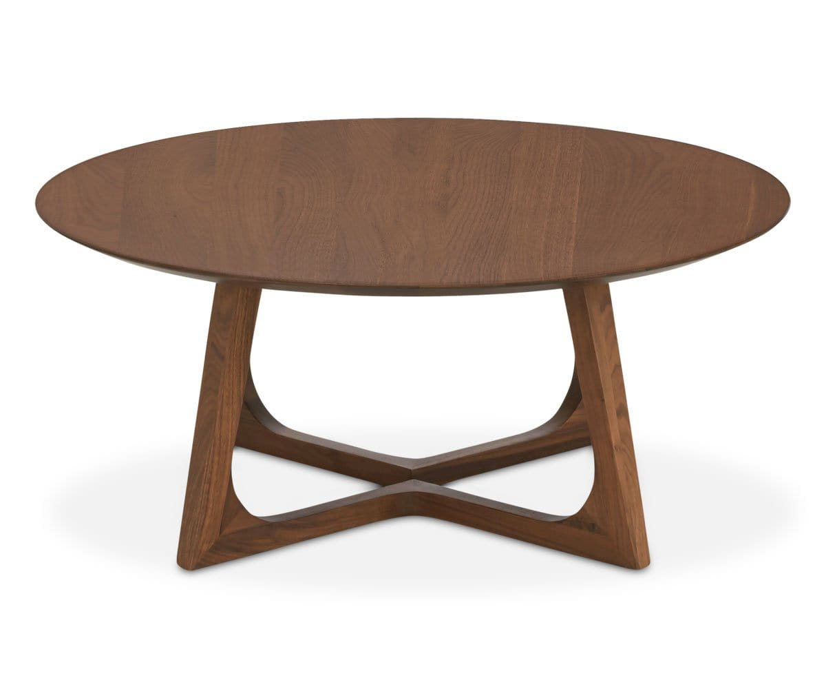Arabescato Orobico Round Coffee Table: Cress Round Coffee Table