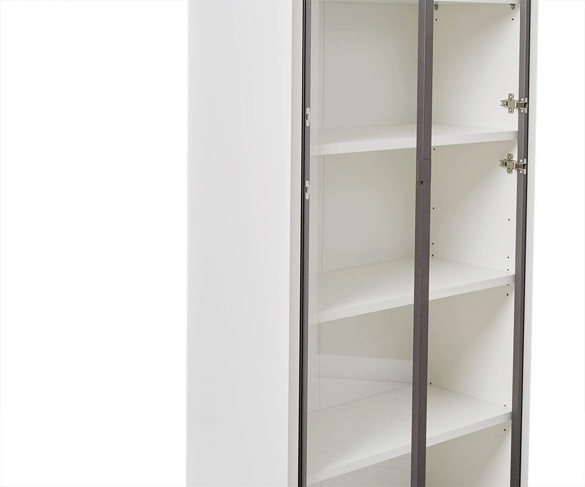 Gammel Tall Bookcase with Glass Doors