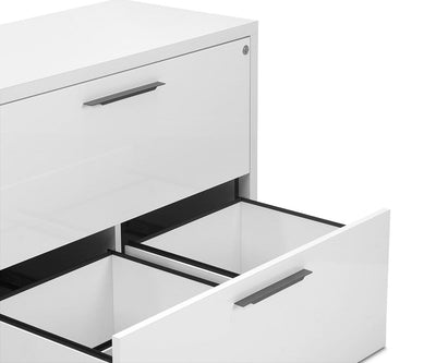 Gammel Lateral File - White