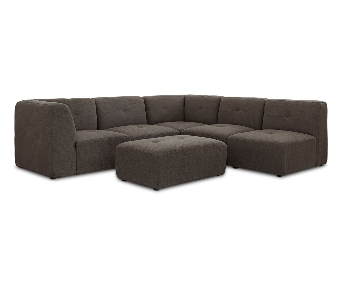 modern cozy deep seated sectional