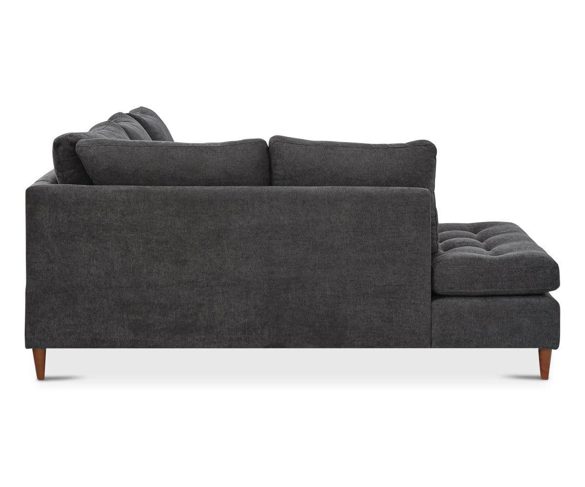 Contemporary tailored slate chaise couch
