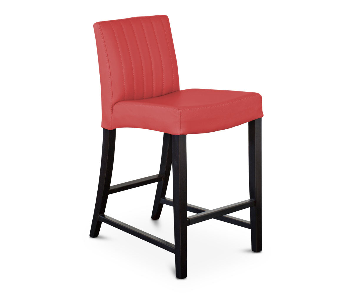 Barrima Counter Stool - Red/Venge