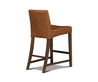 Barrima Counter Stool - Saddle/Walnut