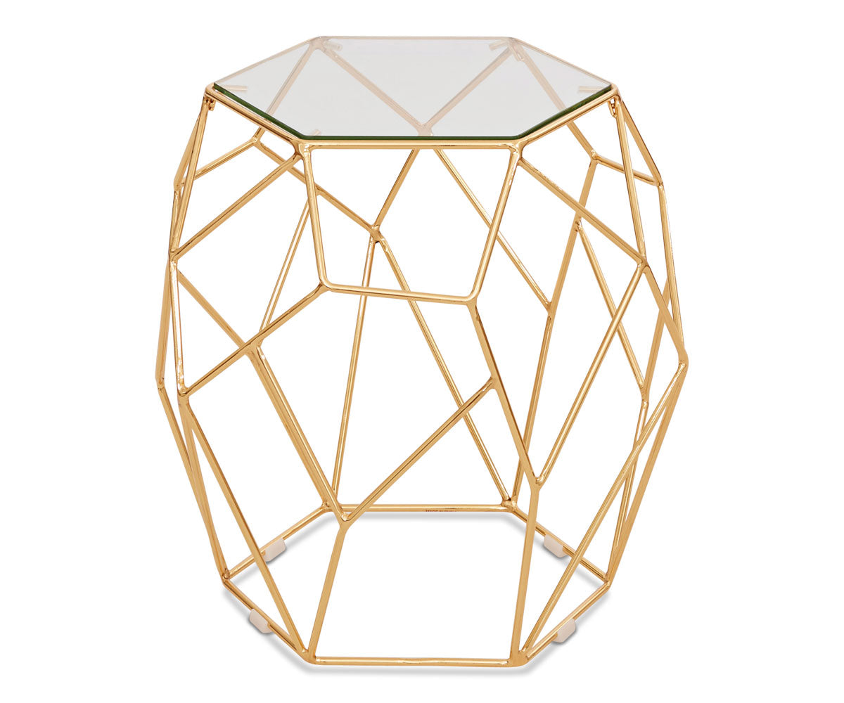 Oona End Table - Gold