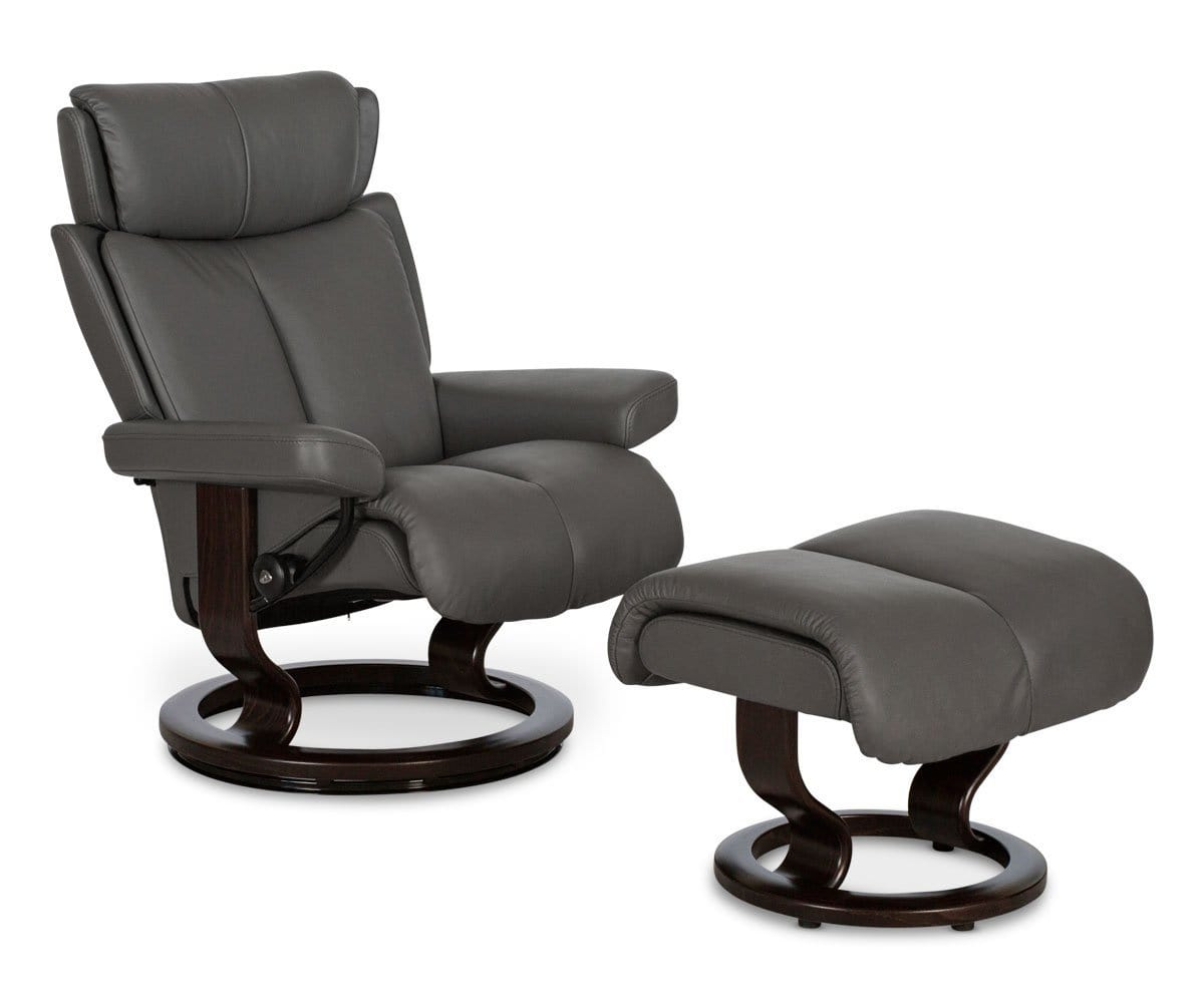 Stressless 174 Magic Recliner Amp Ottoman Dania Furniture