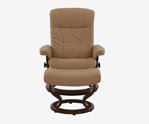 Stressless® President Medium Recliner & Ottoman