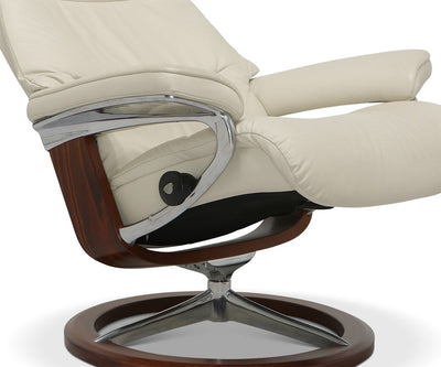 Stressless® View Recliner & Ottoman with Signature Base