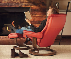 Stressless® Mayfair Recliner & Ottoman - Scandinavian Designs