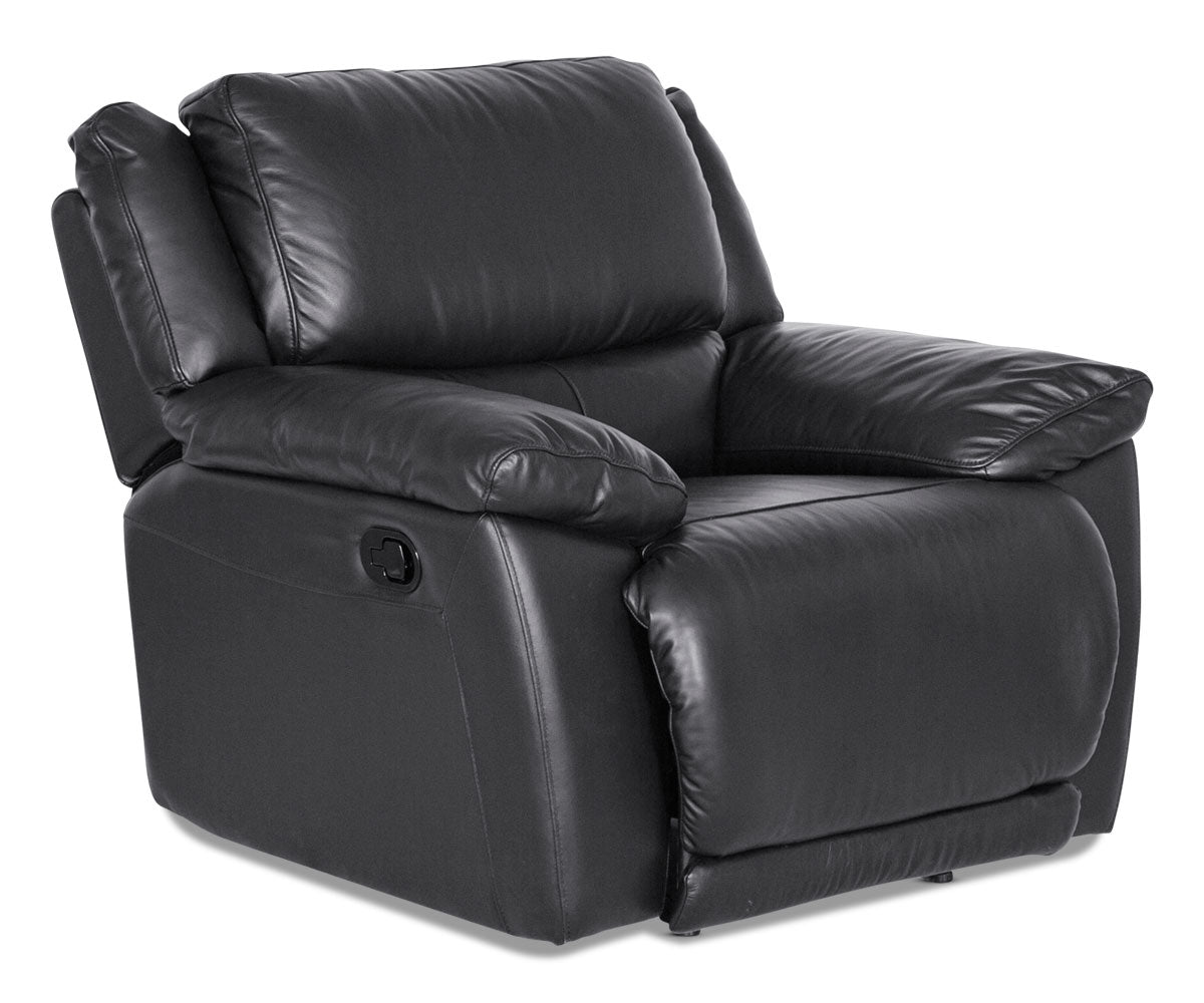 Contemporary plush leather lounge seat