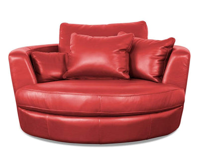 Copel Swivel Lounge Chair - Red