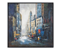 Street Life Oil Painting